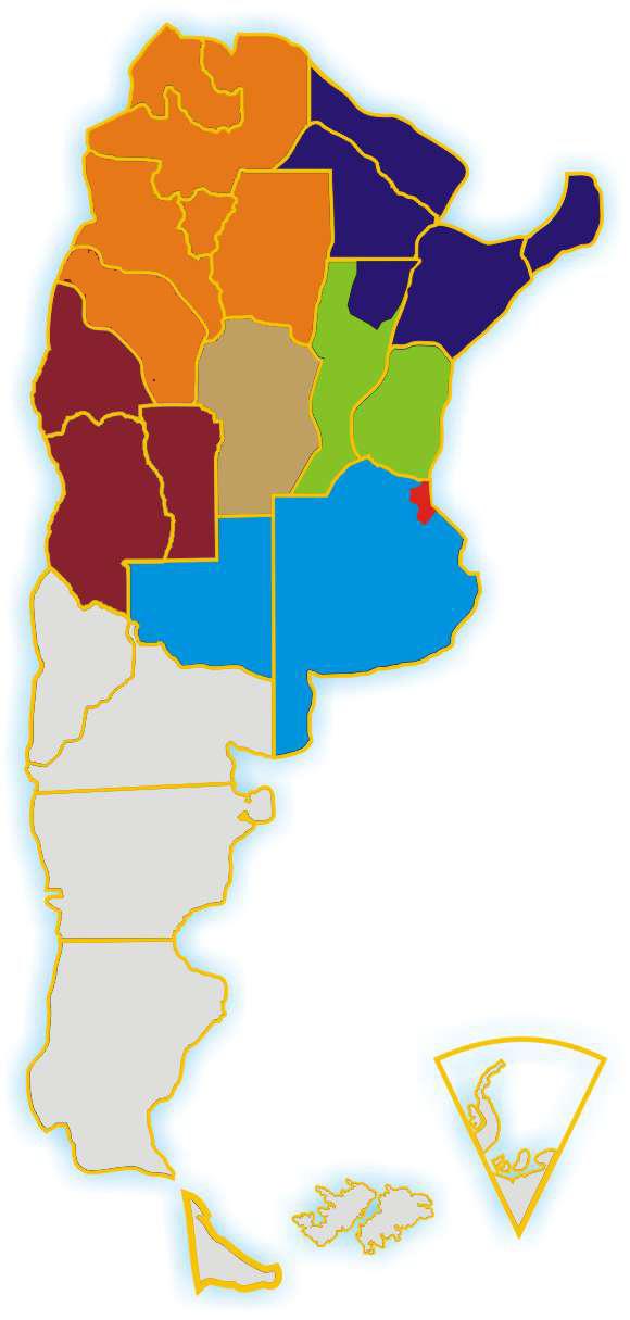Regiones de la Pastoral de Juventud
