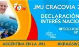 Declaración de interés nacional a la participación en la JMJ Cracovia 2016